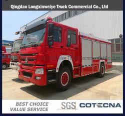 New HOWO 4X2 8طن شاحنة الإطفاء Footbank Fire Truck