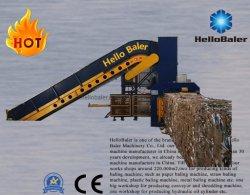 Appuyez sur la mise en balles de déchets de papier hydraulique machine à partir de HelloBaler