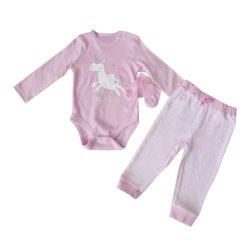 Corpo della ragazza del cotone dei vestiti del bambino ed insieme di Pijama 3PCS del calzino e della mutanda
