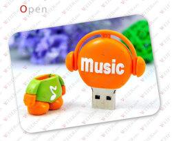 De creatieve Flits USB van de Aandrijving van het Talent USB van de Muziek van pvc van de Gift van de Manier