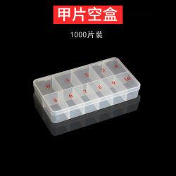 1000PCS caixa de pontas de pregos contentores vazios unha Ferramenta de arte