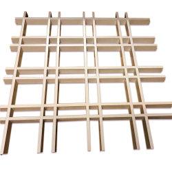 La instalación de la barra de t el marco de metal de aluminio de la cuadrícula de célula abierta yacía sobre techo
