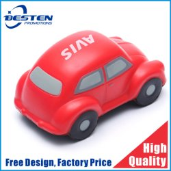 PU-Antistress Auto mit fertigen Firmenzeichen-Auto-Stampfer-Form PU-Schaumgummi kundenspezifisch an