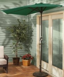Décalage de 9 ft demi-mur jardin Table parapluie de plein air