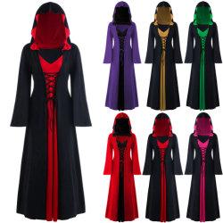 2020 Ins Halloween estilo caça às bruxas capuz Tamanho Grande vestido saia soltas vestido no local para Adulto