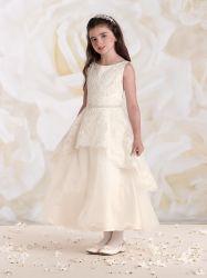 Букет с шампанским девочек платье для свадьбы Organza верхней части кружевом валика клея
