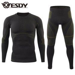 Conjunto de Roupa interior térmica quente Esdy 2 Colors para homem ′ S com Velo