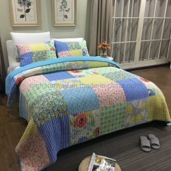 Commerce de gros de haute qualité à chaud 100% coton Imprimer Patchwork Quilt Ensemble de literie couvre-lit