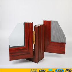 El calor de aluminio con aislamiento de Casement Ventana con perfil de aluminio de madera