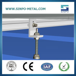 Zinn-/Metalldach-Sonnenkollektor-Stützsolarmontage-Zahnstangen-Installations-Zubehör für Sonnenkollektoren