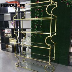 La barra de gran tamaño superior de cristal muebles Rack metálica de acero inoxidable