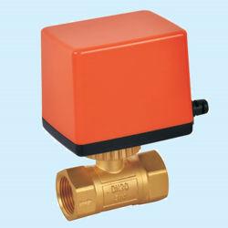 Mini Electric Válvula de bola de hilo motorizado para el calor medición/Sistema de aire acondicionado/Contador de agua