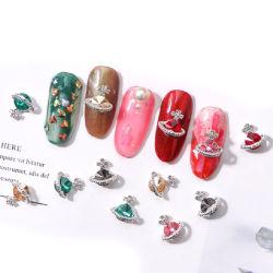Fournitures de décoration pour ongles ensemble en alliage de cristal de Saturn Shape Mix Bricolage artisanat Nail Art Accessoires pour Lady