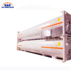 ISO 기준 40FT 50cbm 스테인리스 탱크 콘테이너는 산업 액체 산소, 액체 질소 및 액체 아르곤을 저장하기 위하여 사용된다