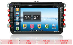 "Reines Android 2.3 Car DVD für 8 "" VW Golf 6 GPS mit 1g CPU, 512m RAM, Capacitive Screen, Canbus (Optional-3G, WiFi)"