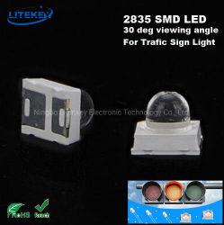 LED SMD 2835 con 30 grados el ángulo de visión de la luz de señal de tráfico