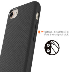 Cassa protettiva del nuovo telefono a schiocco di serie per il iPhone 8 - il nero
