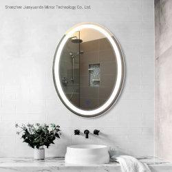 Specchio incorniciato decorato antinebbia ovale della stanza da bagno LED della parete con indicatore luminoso