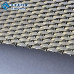 Tessuto a rete in metallo intrecciato decorativo e con struttura a crimpare