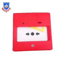 Feuersignal-Systems-Plastikdruckknopf-rotes Bruch-Glas