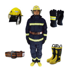 Het vuurvaste Jasje van de Beschermende Kleding van Fr van de Brandbestrijder van de Weerstand van de Brand, het Kostuum van de Broek met Weerspiegelende Band in Workwear