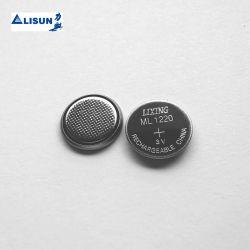 Bateria de lítio de 3V ML1220 17mAh recarregável Bateria de botão com um fio&Plug Fonte de Alimentação para notebook