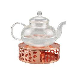 Rose Gold의 Teapot Warmer 스테인리스 스틸 티 포트 히터 테이와머