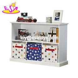 Novo Design Eco-Friendly organizador de brinquedos para crianças de madeira para o quarto W08C239