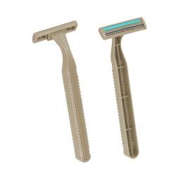 Palha de trigo 2003 Twin biodegradáveis de lâmina de barbear descartáveis de 2 Lâminas de barbear Razor Eco-Friendly (DK-2003)