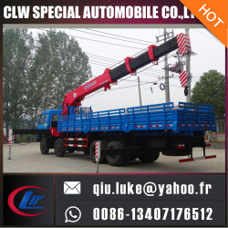 Nieuwe Hydraulische 6 8 10 de Kleine Vrachtwagen Opgezette Kraan van 12 Ton voor Verkoop, de Omwenteling van 360 Graad de Kranen van de Vrachtwagen van 7 Ton