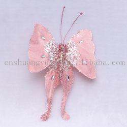 La farfalla lucida della libellula di nuovo natale di disegno per la decorazione della festa nuziale di festa fornisce i regali del mestiere dell'ornamento dell'amo