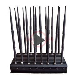 Multi-gebruik 16 Blocker van het Signaal van Antennes het Mobiele Werk voor WiFi/GPS/VHF/UHF/Lojack