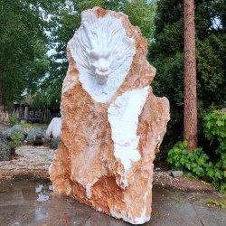 Giardino e scultura domestica del drago della roccia del marmo di stile cinese della decorazione