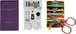 L'hotel bianco di colore mini Scissor per il kit di cucito con il piccolo kit di vanità dell'hotel del kit di cucito dell'hotel della casella di carta