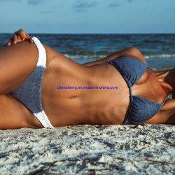 Mode couleur solide pour le bain Maillot de bain femme Sexy Bikini Beach