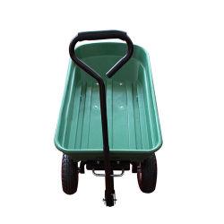庭のプラスチック便利な折りたたみ押しのダンプはカート手のトロリーに用具を使う