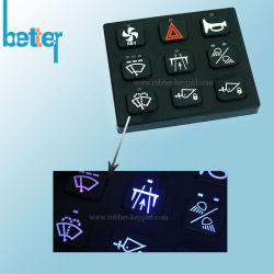 Serigrafie van het Silicone van de douane de de Rubber/Schakelaar van het Toetsenbord van de Gravure van de Laser/van het Toetsenbord van Knopen