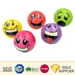 Commerce de gros logo personnalisé coloré en vrac Squeeze Non-Toxic mousse à mémoire de doigt biodégradable et écologique Grip PU Soulagement du Stress Squishy jouet Emoji balle de tennis