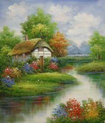Reproducción del famoso artista Thomas Jardín pinturas al óleo