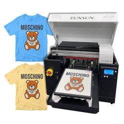 Tamaño A3 de superficie plana de escritorio de tejido de algodón de bricolaje Tshirt Camiseta textil digital automático directo T-Shirt impresora DTG la máquina de impresión