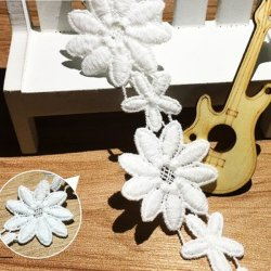 Haute qualité 4cm broderie de produits chimiques hydrosolubles dentelle de coton pour la décoration