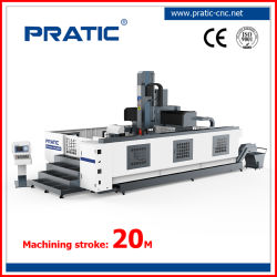 5 axes CNC avec le déplacement du faisceau machine de traitement de l'aluminium de fraisage