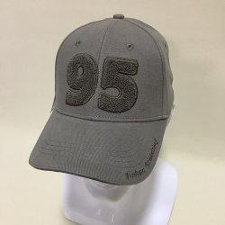 専門の習慣3D刺繍によってブラシをかけられるサンドイッチ綿の野球帽
