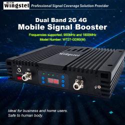 A banda dupla GSM/DCS 900/1800MHz repetidor de sinal móvel com antenas