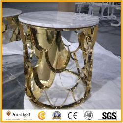 De nieuwe Koffietafel van het Meubilair van het Ontwerp Moderne met de Natuurlijke Witte Marmeren Bovenkant van de Steen
