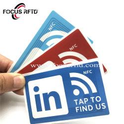 Ntag213/215/216 RFID NFC adhesivo para Medios de Comunicación Social