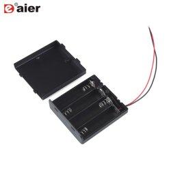 Пластиковый 4 AA держатель батареи с переключателем и крышкой