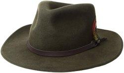 شعر 100% من الملابس الصوفية التقليدية بأنها مثيرة للضحك للرجال الكلاسيكيّة كاوبوي قبعة نبات القبعة