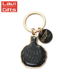 El lujo de Navidad de metal personalizados personalizados Llavero de oro para regalo