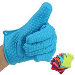 Ustensiles de cuisine Multi-Color étanche résistant à la chaleur mitt gant de cuisson au four en silicone